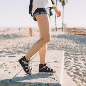 Sorel Torpeda Lace Up Gladiator Sandals Black 8.5
